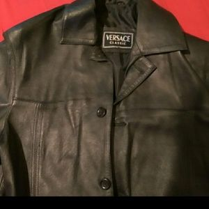 Versace 🎭 Leather Jacket